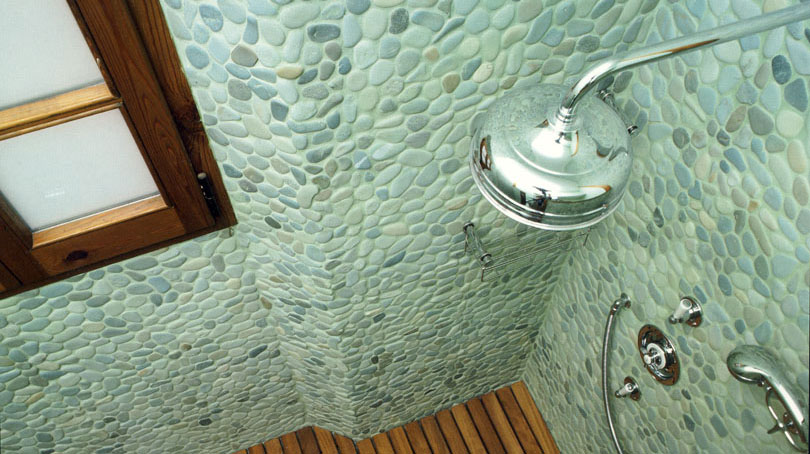Pebble Tiles - Natural Flat and Decorative Mosaic Stone Tile!